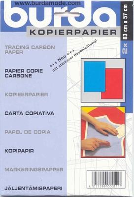 Burda kopierpapier blauw rood