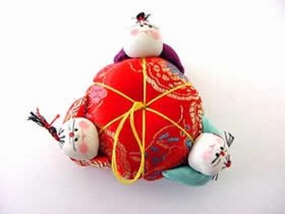 Chinese Speldenkussen klein  7 cm