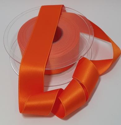 Oranje Satijnlint  Per Meter