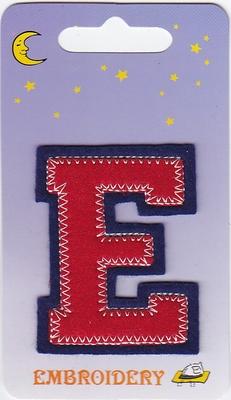 Applicatie E 6,5cm hoog opstrijkbaar