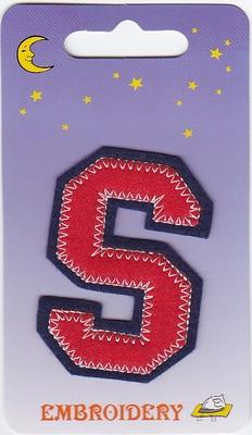 Applicatie S 6,5cm hoog opstrijkbaar