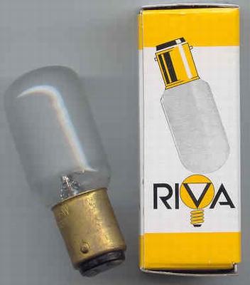 Bajonet lampje 235v 20w