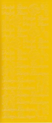 Stickervel Pasen geel  10 x 23 cm
