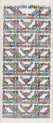 Stickervel hoek  10 x 23 cm