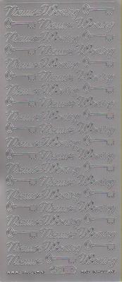 Stickervel Nieuwe Woning zilver  10 x 23 cm