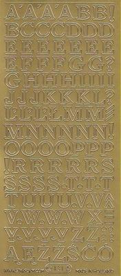 Stickervel Letters goud  10 x 23 cm