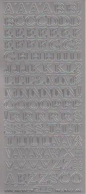 Stickervel Letters zilver  10 x 23 cm