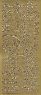 Stickervel Abraham / Sara goud  10 x 23 cm