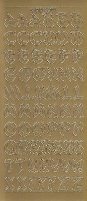 Stickervel dd6201 goud  10 x 23 cm