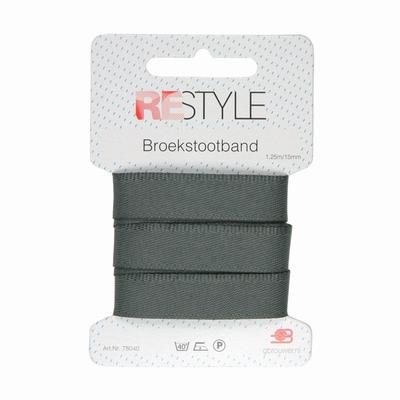 Broekstootband grijs