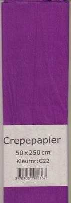 Crepepapier 50x250cm Paars