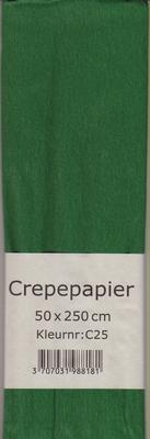 Crepepapier 50x250cm Groen