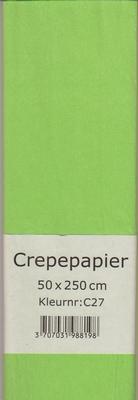 Crepepapier 50x250cm Licht Groen