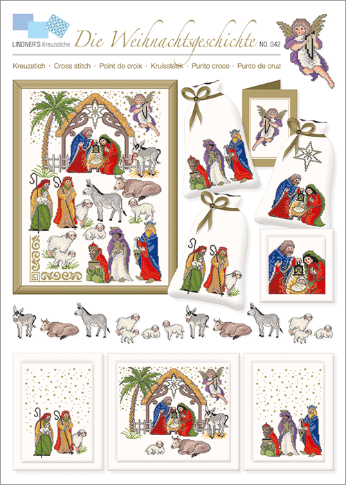 Lindner's borduurpatroon Advent Kerst