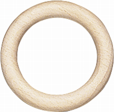 Houten Ring 85mm Ø, 13 mm dik  1 stuks