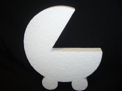 Styropor wieg plat afm. 30 x 26 x 3 cm