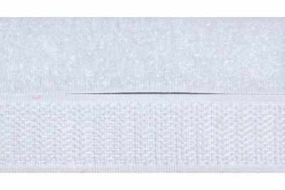 Klittenband 50mm breed, wit  0,50 Meter