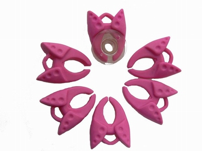 Spoelklem roze  6 stuks