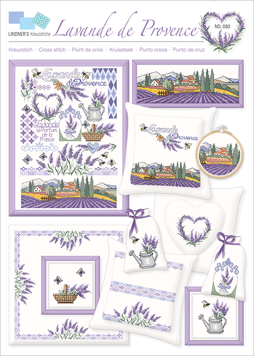 Lindner's borduurpatroon Lavande de Provence