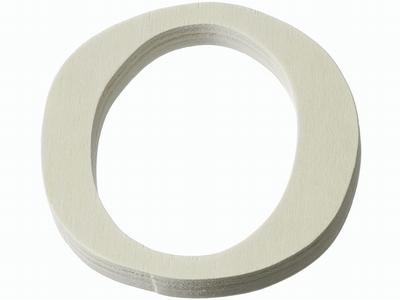 Houten letter O  4 cm