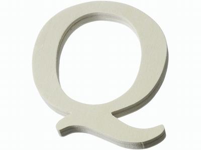 Houten letter Q  4 cm
