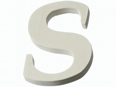 Houten letter S  4 cm
