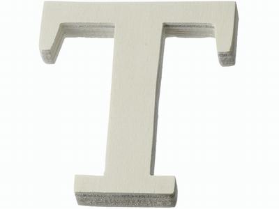 Houten letter T  4 cm