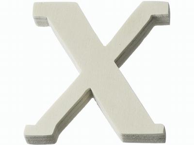 Houten letter X  4 cm