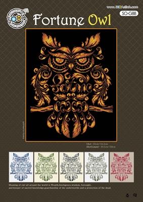 Borduurpakket Fortune Owl - The Stitch Company