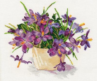 Borduurpakket Blooming garden - Crocuses - Alisa