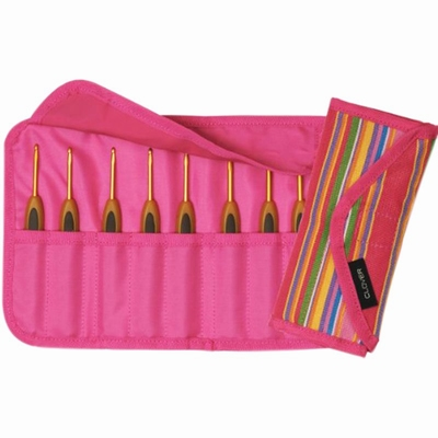Soft touch crochet hook case