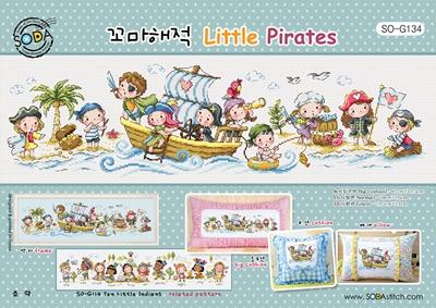 Borduurpakket Little Pirates - The Stitch Company