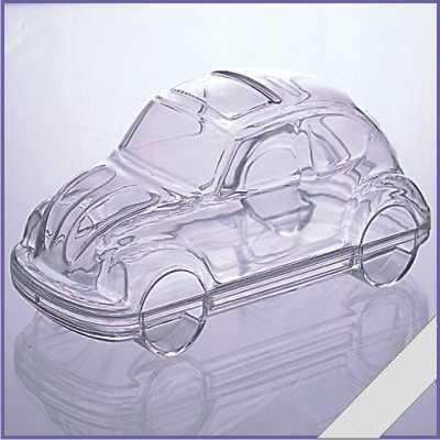 Transparante VW Kever 11cm.