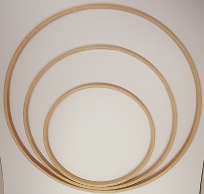 Houten Ring 25cm 1cm breed