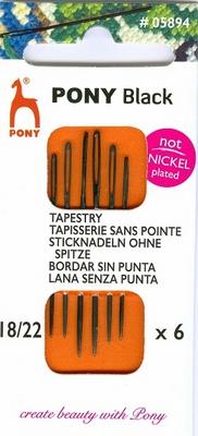 Pony Black Tapestry 18-22mm