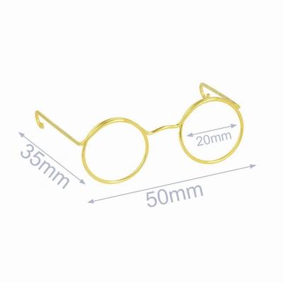 Bril voor knuffels metaal 5cm