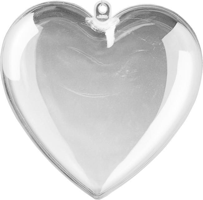 Acryl hart 10 cm transparant