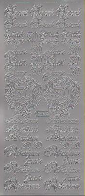 Stickervel Abraham / Sara zilver  10 x 23 cm