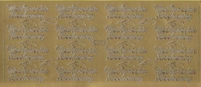 Stickervel Met Oprechte Deelneming  10 x 23 cm
