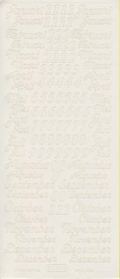Stickervel Maanden vh Jaar wit  10 x 23 cm