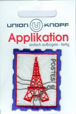 Applicatie postzegel eiffeltoren