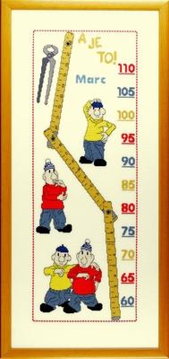 Borduurpakket Buurman & Buurman groeimeter