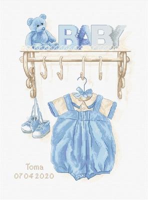 Borduurpakket Baby boy birth
