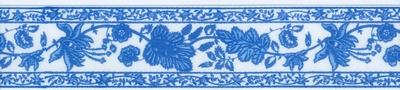 Blad bloem lint blauw  1 meter