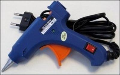 Lijmpistool 20 Watt klein (blauw) met aan-uit schakelaar