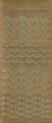 Stickervel Joy! goud  10 x 23 cm