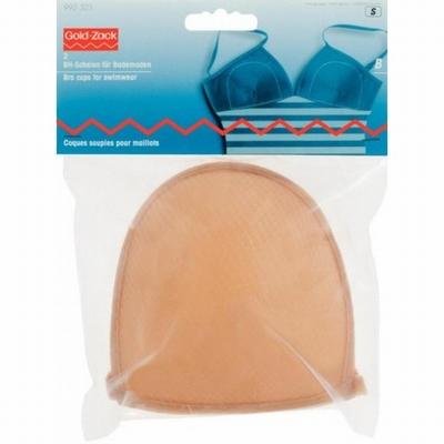 BH-inlegcups voor badkledij huidkleurig, Maat C  1 paar