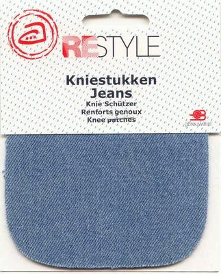 Kniestukken Jeans 10 x 10 cm