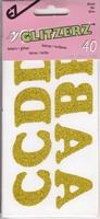 Strijkletters Goud glitter