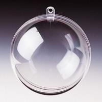 Transparante plastic bal deelbaar 8 cm
